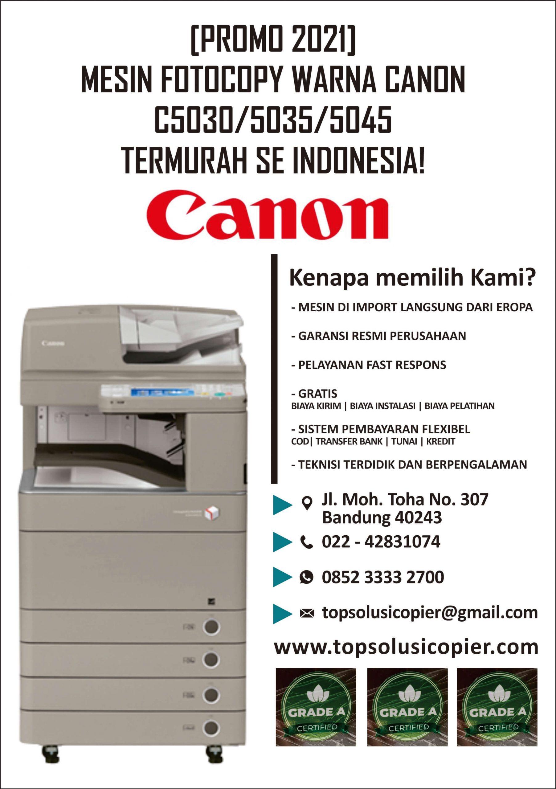 mesin fotocopy warna canon tasik